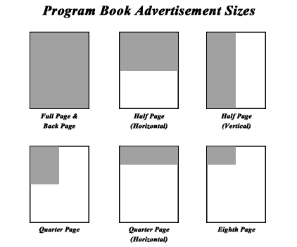 Program Book Ad Sizes